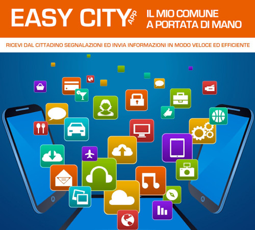 Easy City App scarica la brochure
